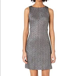 Versace Collection Woven Sheath Stretch Silver